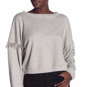 BLANK NYC | Beaded Fringe No Joke Sweatshirt